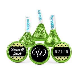 Personalized Wedding Dots Hershey's Kisses (50 pack)