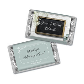 Personalized Wedding Chalkboard Lettering Hershey's Miniatures Wrappers Only