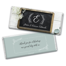 Personalized Wedding Chalkboard Lettering Chocolate Bar & Wrapper