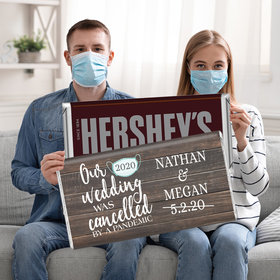 Our Wedding Was Cancelled Personalized 5lb Hershey's Chocolate Bar (5lb Bar)