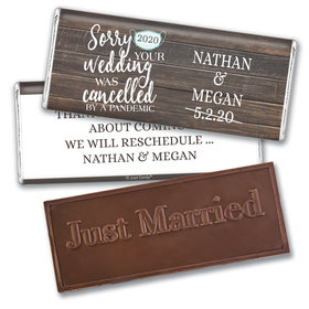 Personalized Sorry Your Wedding Was Cancelled Embossed Chocolate Bar
