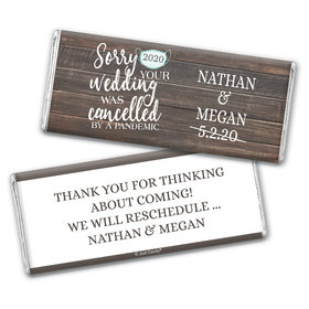 Personalized Sorry Your Wedding Was Cancelled Chocolate Bar & Wrapper