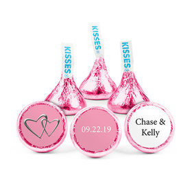 Personalized Wedding Linked Hearts Hershey's Kisses (50 pack)
