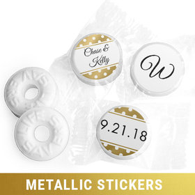 Personalized Metallic Wedding Polka Dots Life Savers Mints (300 Pack)