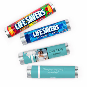 Personalized Wedding Tiffany Style Lifesavers Rolls (20 Rolls)