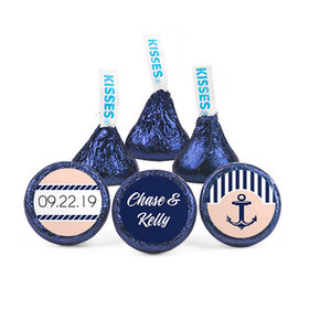 Personalized Wedding Anchor Hershey's Kisses (50 pack)