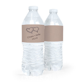 Personalized Wedding Ocean Sand Water Bottle Labels (5 Labels)