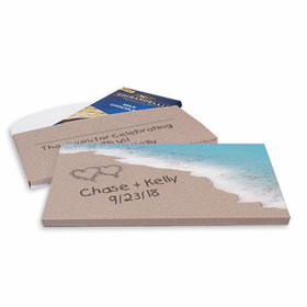 Deluxe Personalized Wedding Seashore Ghirardelli Chocolate Bar in Gift Box