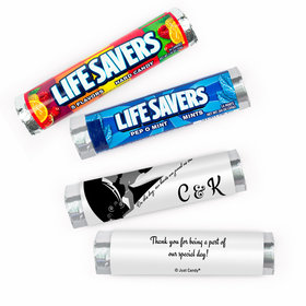Personalized Wedding One Heart Lifesavers Rolls (20 Rolls)