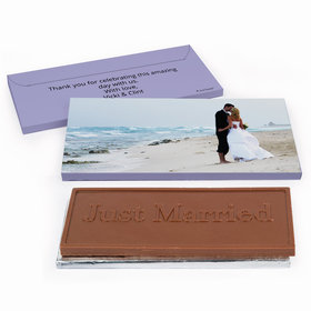 Deluxe Personalized Wedding Full Photo Chocolate Bar in Gift Box