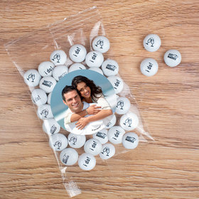 Personalized Wedding Add your Photo Candy Bag with JC Chocolate Minis