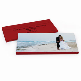 Deluxe Personalized Wedding Full Photo Hershey's Chocolate Bar in Gift Box