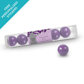 Wedding Favor Personalized Gumball Tube Tree of Love (12 Pack)