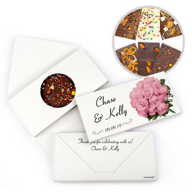 Personalized Wedding Flower Bouquet Gourmet Infused Belgian Chocolate Bars (3.5oz)