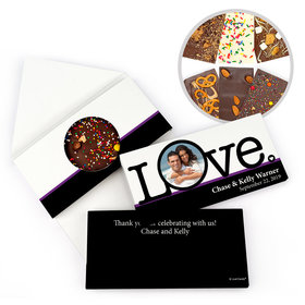 Personalized Wedding Big Love Photo Cameo Gourmet Infused Belgian Chocolate Bars (3.5oz)