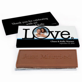 Deluxe Personalized Wedding Big Love Photo Cameo Chocolate Bar in Gift Box