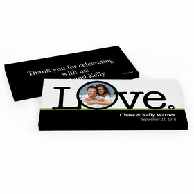 Deluxe Personalized Wedding Big Love Photo Cameo Hershey's Chocolate Bar in Gift Box