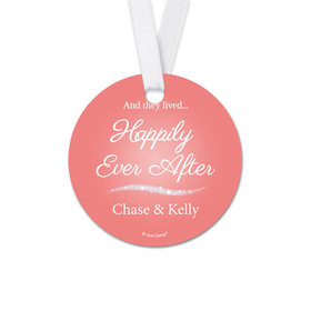 Personalized Round Happily Ever After Wedding Favor Gift Tags (20 Pack)