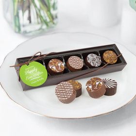 Personalized Wedding Happily Ever After Gourmet Chocolate Truffle Gift Box (5 Truffles)