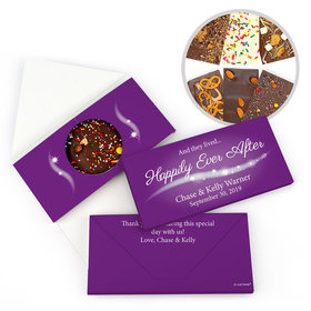 "Personalized Wedding ""Happily Ever After"" Gourmet Infused Chocolate Bars (3.5oz)"