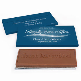 "Deluxe Personalized Wedding ""Happily Ever After"" Chocolate Bar in Gift Box"