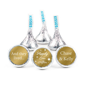 Personalized Metallic Wedding Happily Ever After Hershey's Kisses (50 Pack)