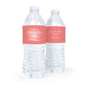Personalized Wedding Happily Ever After Water Bottle Labels (5 Labels)