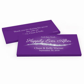 """Deluxe Personalized Wedding """"Happily Ever After"""" Hershey's Chocolate Bar in Gift Box"""