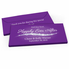"""Deluxe Personalized Wedding """"Happily Ever After"""" Candy Bar Favor Box"""