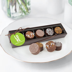 Personalized Wedding Bold Love Gourmet Chocolate Truffle Gift Box (5 Truffles)