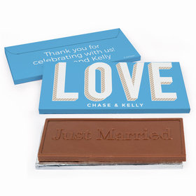 Deluxe Personalized Wedding Bold Love Chocolate Bar in Gift Box
