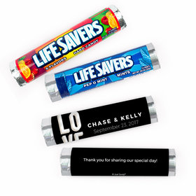 Personalized Wedding Bold Love Lifesavers Rolls (20 Rolls)