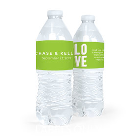Personalized Wedding Bold Love Water Bottle Sticker Labels (5 Labels)