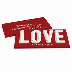 Deluxe Personalized Wedding Bold Love Hershey's Chocolate Bar in Gift Box