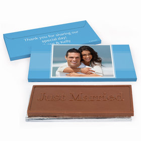Deluxe Personalized Wedding Photo Chocolate Bar in Gift Box