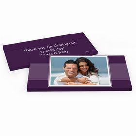 Deluxe Personalized Wedding Photo Hershey's Chocolate Bar in Gift Box