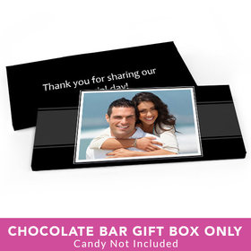 Deluxe Personalized Wedding Photo Candy Bar Favor Box