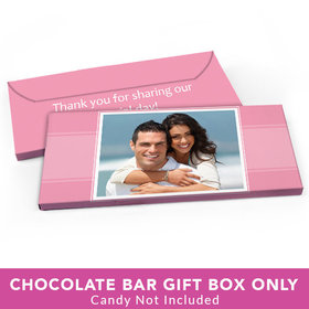 Deluxe Personalized Wedding Photo Candy Bar Cover