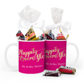 Personalized Wedding Happily Ever After 11oz Mug with Hershey's Miniatures