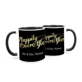 Personalized Wedding Happily Ever After 15oz Mug