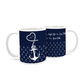 Personalized Wedding Anchors 11oz Mug