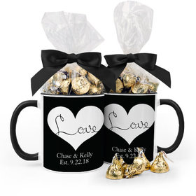 Personalized Wedding Love 15oz Mug with Hershey's Kisses