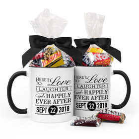Personalized Wedding Love & Laughter 11oz Mug with Hershey's Miniatures