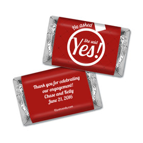 Engagement Party Favor Personalized Hershey's Miniatures Wrappers She Said Yes! Ring