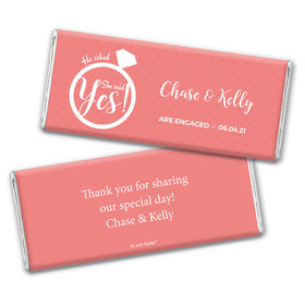 Engagement Party Favor Personalized Chocolate Bar Wrappers She Said Yes! Ring