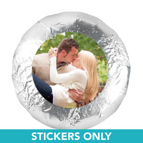 "Engagement Party Favor 1.25"" Sticker Full Photo (48 Stickers)"