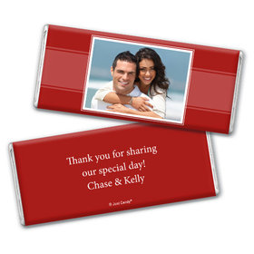 Engagement Party Favor Personalized Chocolate Bar Photo
