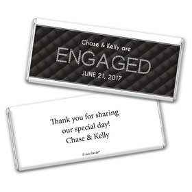 Engagement Party Personalized Chocolate Bar Chanel Inspired Quilted Engaged!