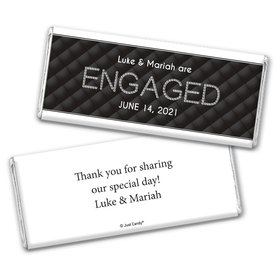 Engagement Party Personalized Chocolate Bar Wrappers Chanel Inspired Quilted Engaged!