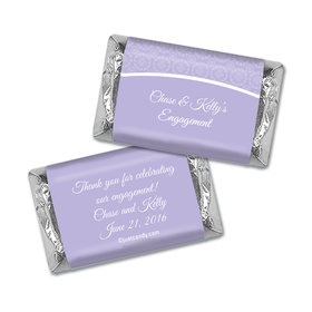 Engagement Party Favor Personalized Hershey's Miniatures Wrappers Sunburst Hearts Pattern